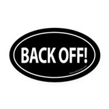 BACK OFF Auto Oval Car Magnet -Black (Oval)