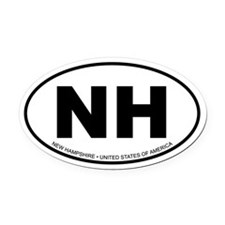 New Hampshire Oval Car Magnet