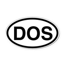 DOS Oval Car Magnet