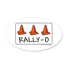 Rally-O Oval Car Magnet