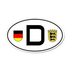Germany car Oval Car MagnetBaden-Wuerttemberg vari