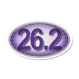 PURPLE Burst Marathon Oval Car Magnet
