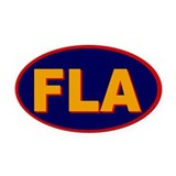 Florida Oval Car Magnet