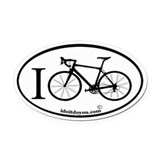 Cute Cycle Oval Car Magnet