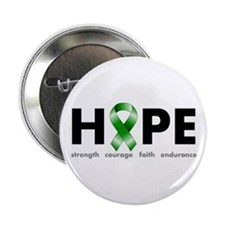 "Green Ribbon Hope 2.25"" Button"