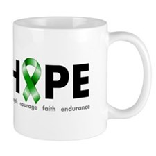 Green Ribbon Hope Small Mugs