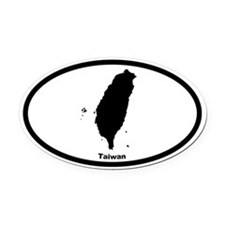 Taiwan Outline Oval Car Magnet