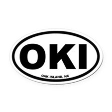 Oak Island, NC Euro Oval Car Magnet
