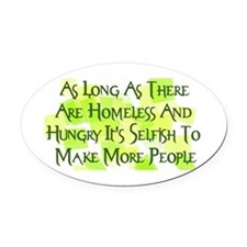 Stop Overpopulation Oval Car Magnet