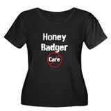 Honey Badger Cares Women's Plus Size Scoop Neck Da