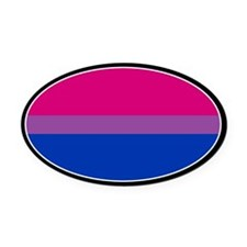 Bisexual Pride Oval Car Magnet