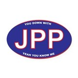 You Down with JPP Oval Car Magnet