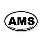 Amsterdam Schiphol International Oval Car Magnet