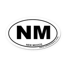 New Mexico Oval Car Magnet