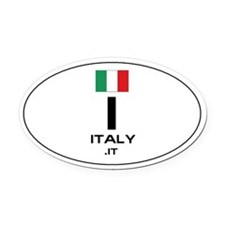 UN-Style Oval Automobile Oval Car Magnet - Italy