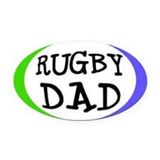 Rugby Dad Bumper Oval Car MagnetSmall Oval)