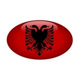 Albania Oval Car Magnet