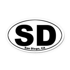 San Diego Oval Car Magnet