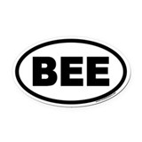 BEE Euro Oval Car Magnet