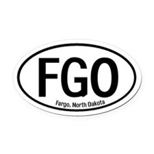 Fargo, North Dakota Oval Car Magnet