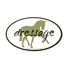 Sage Sidepass Dressage Oval Car Magnet
