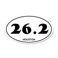 Houston Marathon Oval Car Magnet
