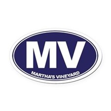 MV - Martha's Vineyard Oval Car Magnet