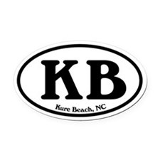 Kure Beach KB Euro Oval Oval Car Magnet