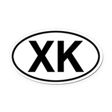 XK Jeep Commander Oval Car Magnet