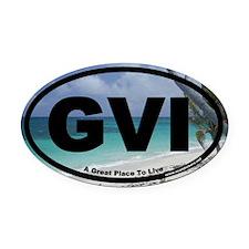 GVI Grand View Island Euro Oval Car Magnet