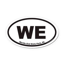 Worlds End State Park WE Euro Oval Car Magnet