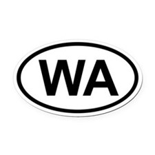 Washington Oval Car Magnet
