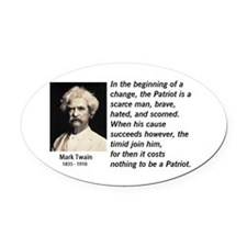Mark Twain Oval Car Magnetriotism Oval Car Magnet