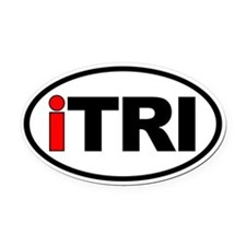 iTRI Ironman Triathlon Oval Euro Oval Car Magnet