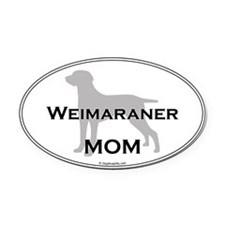 Weimaraner MOM Oval Car Magnet