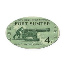 Fort Sumter Civil War Oval Car Magnet