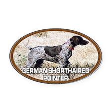 Cute Hunting dog Oval Car Magnet