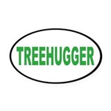 treehugger... Oval Car Magnet
