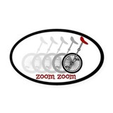 Uni Zoom Oval Car Magnet