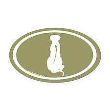 Ridgeback Spine Oval (white/sage) Oval Car Magnet