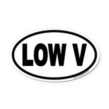 LOW V Euro Oval Car Magnet