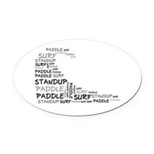 Wordup Wave White Oval Car Magnet