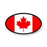 Maple Leaf Flag of Canada Euro Oval Car Magnet