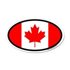 Maple Leaf Flag of Canada Euro Oval Car Magnet
