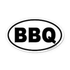 Bar-B-Que BBQ Euro Oval Car Magnet
