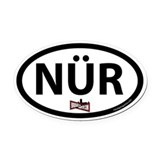 NR-spec bumper Oval Car Magnet