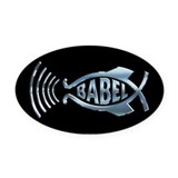 Babel Fish Oval Car Magnet