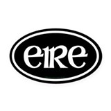 Eire Euro Oval Car Magnet