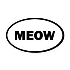 Meow Oval Car Magnet