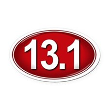 13.1 RED Marathon Oval Car Magnet